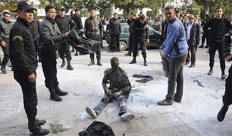immolation par le feu à Tunis